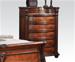 Nathaneal Marble Top Chest in Tobacco Finish by Acme - 22316