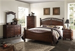 Manfred Low Post Bed 6 Piece Bedroom Set in Dark Walnut Finish by Acme - 22770