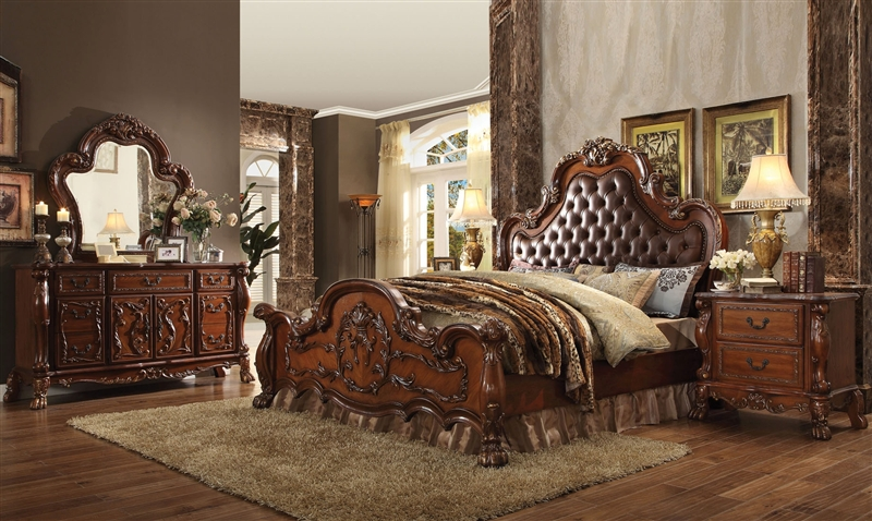 6 Piece Bedroom Set in Cherry Finish by Acme - 23140