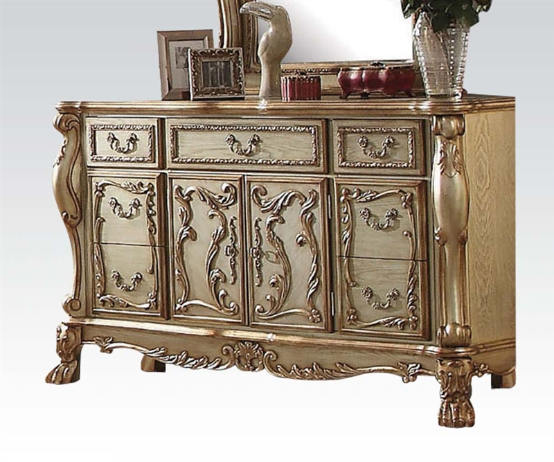 Dresden 6 Piece Bedroom Set in Gold Patina Finish by Acme - 23160