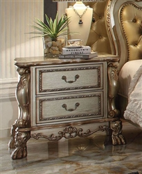Dresden Nightstand in Gold Patina Finish by Acme - 23163