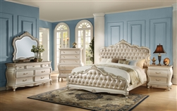 Chantelle 6 Piece Bedroom Set in Pearl White Finish by Acme - 23540