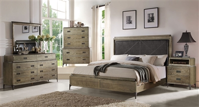 Athouman 6 Piece Bedroom Set in Weathered Oak Finish by Acme - 23910