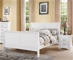 Louis Philippe III Sleigh Bed in White Finish by Acme - 24500Q