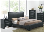 Harrison Black Upholstered Bed by Acme - 24660Q