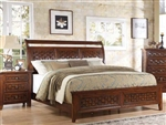 Carmela Bed in Walnut Finish by Acme - 24780Q