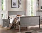 Louis Philippe III Sleigh Bed in Antique Gray Finish by Acme - 25500Q