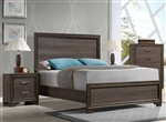 Cyrille Panel Bed in Walnut Finish by Acme - 25840Q