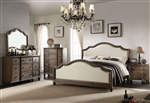 Baudouin 6 Piece Bedroom Set in Weathered Oak Finish by Acme - 26110