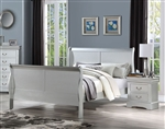 Louis Philippe III Bed in Platinum Finish by Acme - 26700Q