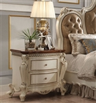 Picardy Nightstand in Antique Pearl Finish by Acme - 26903