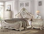 Ragenardus Traditional Bed in Antique White Finish by Acme - 27010Q