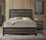 Valdemar Bed in Weathered Gray Finish by Acme - 27050Q