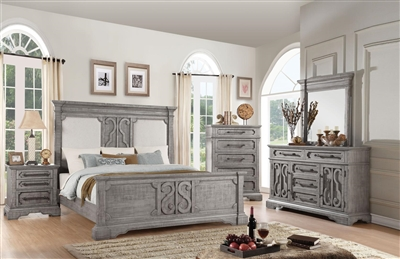 Artesia Panel Bed 6 Piece Bedroom Set in Salvaged Natural Finish by Acme - 27090