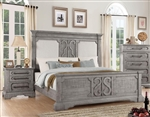 Artesia Panel Bed in Salvaged Natural Finish by Acme - 27090Q