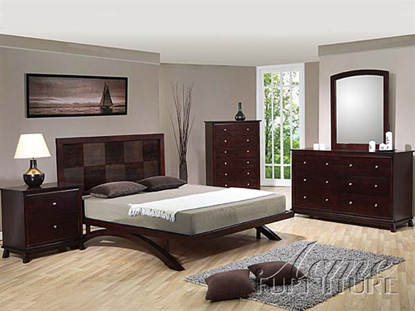Piece Nova Bedroom Set in Walnut Finish by Acme - 4950Q