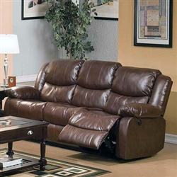 Fullerton Reclining Sofa in Brown Bonded Leather Match by Acme - 50010