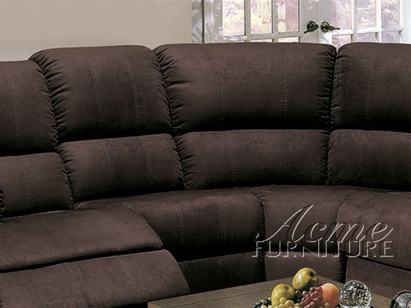 Elizabeth Queen Sleeper Sectional Sofa in Chocolate Microfiber by