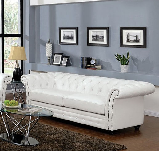 Amazing Camden White Leather Sofa By Acme 50165 Dailytribune Chair Design For Home Dailytribuneorg
