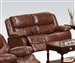 Fullerton Power Reclining Loveseat in Brown Bonded Leather by Acme - 50201