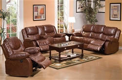 Fullerton 2 Piece Power Reclining Set in Brown Bonded Leather by Acme - 50204-S