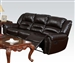 Ralph Reclining Sofa in Dark Brown Leather by Acme - 50285