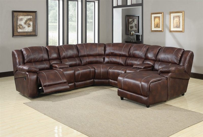 Zanthe Brown Polished Microfiber 7 Piece Reclining Sectional by Acme - 50300 & Zanthe Brown Polished Microfiber 7 Piece Reclining Sectional by ... islam-shia.org
