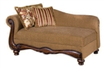 Odysseus Macy Brown Floral Fabric Chaise by Serta Upholstery  - 50312