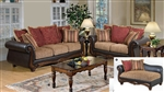 Odysseus 2 Piece Macy / Burgundy Floral Fabric Sofa Set by Serta Upholstery  - 50315-S