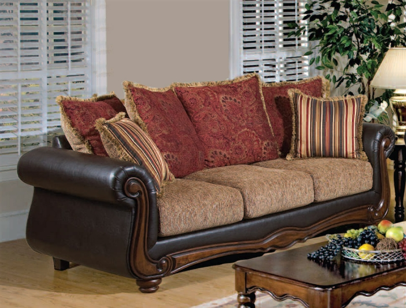 High Quality Odysseus Macy / Burgundy Floral Fabric Chaise By Serta Upholstery   50317