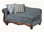 Odysseus Hematite Gray / Tanglewood Brown Fabric Chaise by Serta Upholstery  - 50322