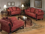 Marquisa 2 Piece Sofa Set in Momentum Magenta Fabric by Serta Upholstery  - 50330-S