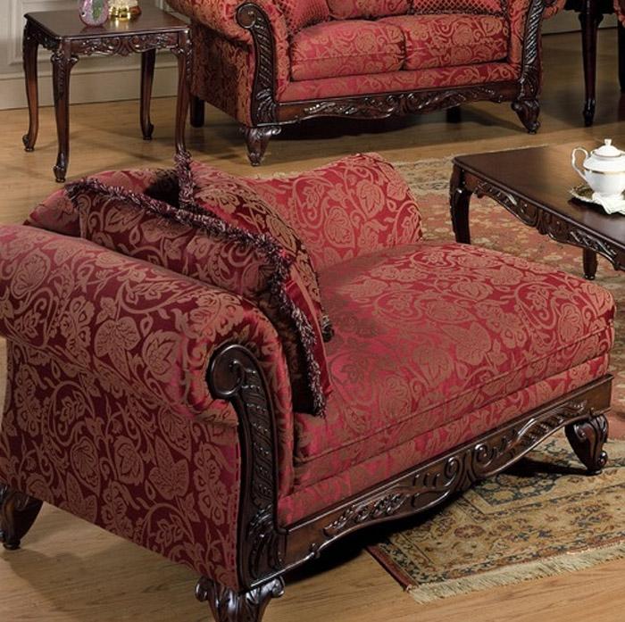 Marquisa Chaise In Momentum Magenta Fabric By Serta Upholstery