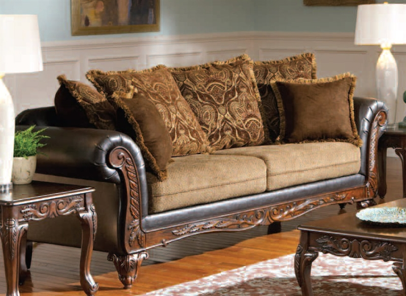 Beautiful Ronalynn Sofa In San Mario Chocolate/ Splurge Fabric By Serta Upholstery    50340