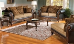 Ronalynn 2 Piece Sofa Set in San Mario Chocolate/ Splurge Fabric by Serta Upholstery  - 50340-S