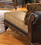 Ronalynn Chaise in San Mario Chocolate/ Splurge Fabric by Serta Upholstery  - 50342