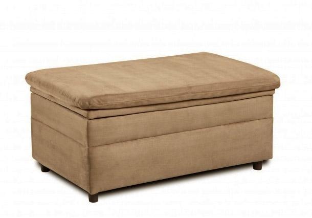 Velocity Latte Fabric Storage Ottoman by Simmons 50363