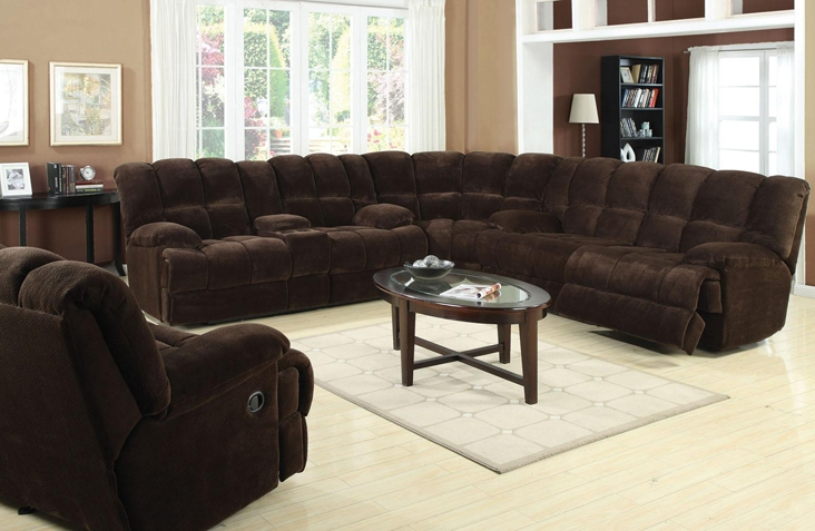 Ahearn Chocolate Microfiber 3 Piece Reclining Sectional By