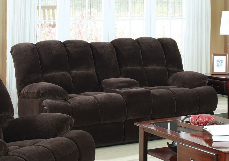 Ahearn Chocolate Microfiber 3 Piece Reclining Sectional by Acme - 50478 : chocolate microfiber recliner - islam-shia.org