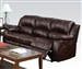 Zanthe Brown Polished Microfiber Reclining Sofa by Acme - 50510