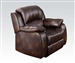 Zanthe Brown Polished Microfiber Recliner by Acme - 50512