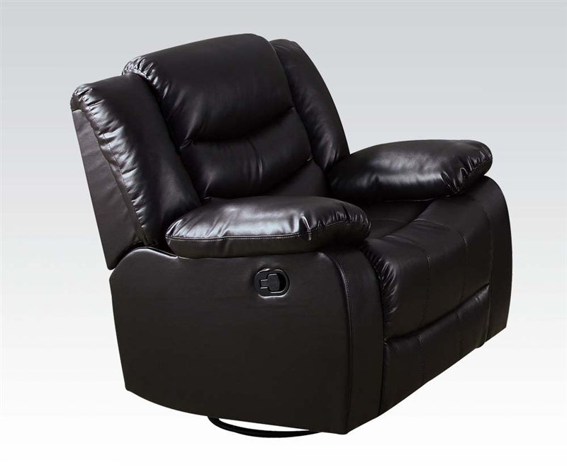 Espresso Leather Reclining Sofa: Torrance Espresso Leather Reclining Sofa With Drop Down