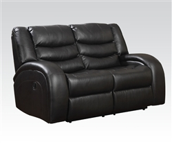 Dacey Espresso Leather Reclining Loveseat by Acme - 50741