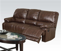 Daishiro Chestnut Leather Reclining Sofa by Acme - 50745