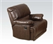 Daishiro Chestnut Leather Recliner by Acme - 50747