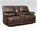 Daishiro Chestnut Leather Reclining Console Loveseat by Acme - 50748