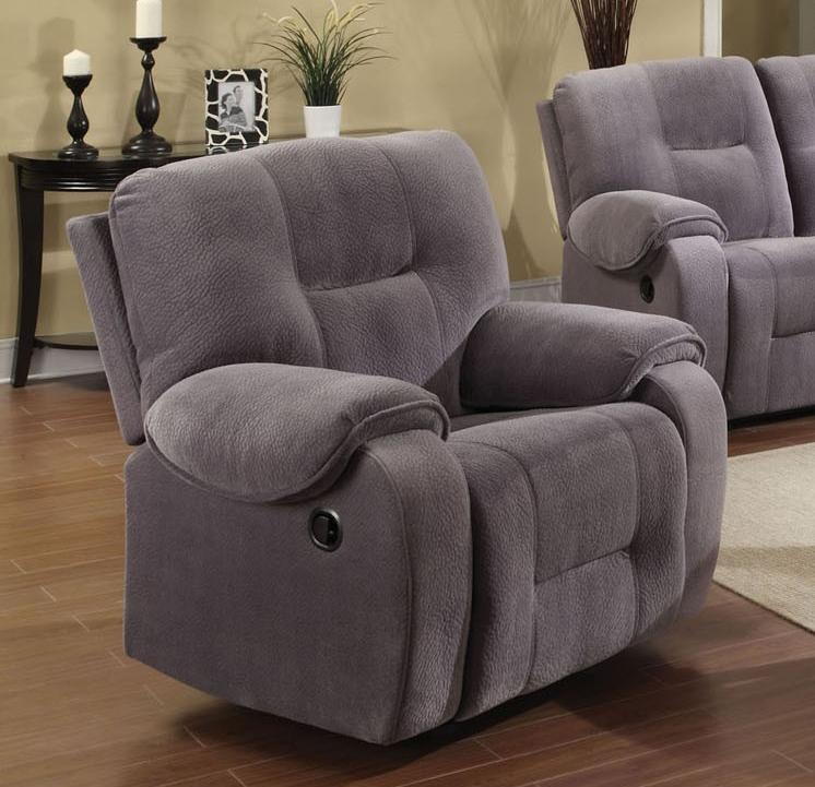 Villa Light Grey Microfiber Reclining Sofa By Acme 50800