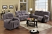 Villa Light Grey Microfiber 2 Piece Reclining Set by Acme - 50800-S