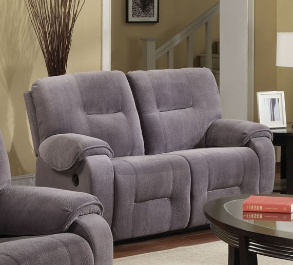 & Villa Light Grey Microfiber Reclining Loveseat by Acme - 50801 islam-shia.org
