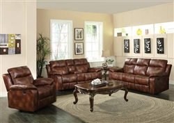 Dyson Light Brown Polished Microfiber 2 Piece Reclining Sofa Set by Acme - 50815-S
